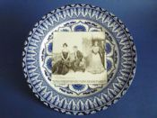 Royal Doulton Art Nouveau Gibson Girl 'A Widow and Her Friends' Series Rack Plate c1903 #5